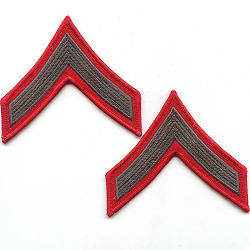A Private First Class (PFC) Alphas Chevrons