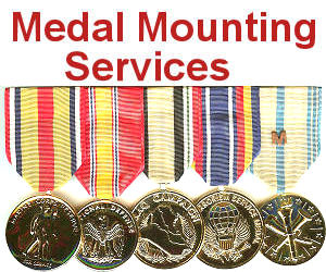 Military Award and Ribbon Medal Mounting