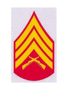 E5 - USMC SGT Decal - SemperFiCo.com